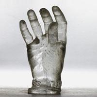 Main en verre Be scan